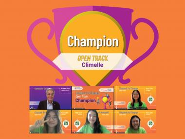Champion of Open Track - Climelle