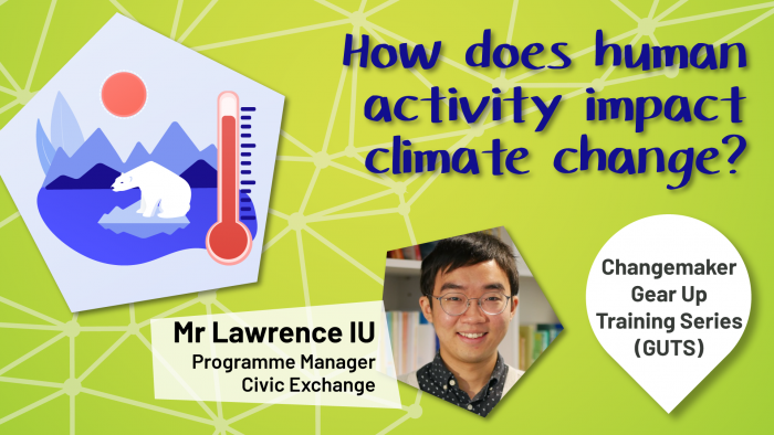 "Cover photo of the talk ""why I need to care about climate change?"""